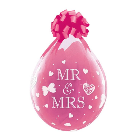 Geschenkluftballon Mr. & Mrs. transparent 45cm