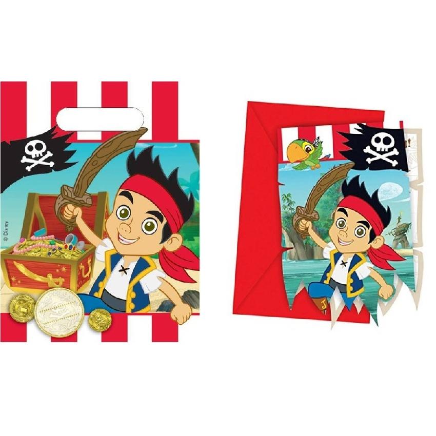 jake nimmerland piraten einladungskarten & geschenktüten