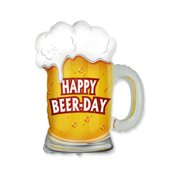 5 Folienballons Happy Beer Day Mini Shape 35cm