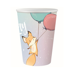 Süßer Fuchs Happy Birthday 6 Becher