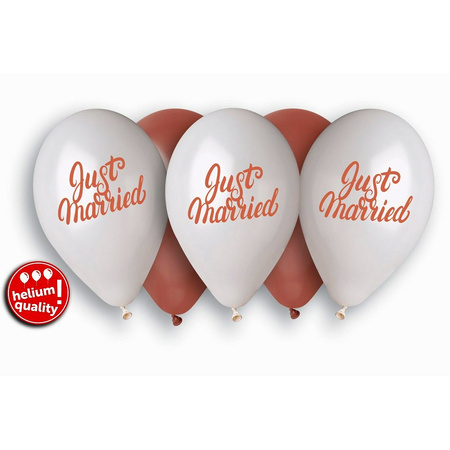 10 Luftballons Just married 30cm