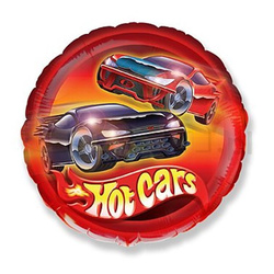 Hot Cars Folienballon 45cm