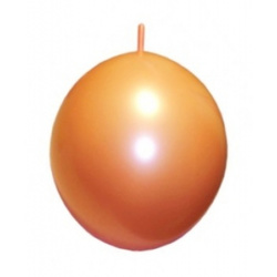 25 Girlandenballons orange 10m