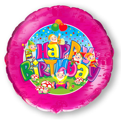 Happy Birthday Zwerge Folienballon 45cm