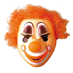 Clown Kindermaske in 3 Farben orange