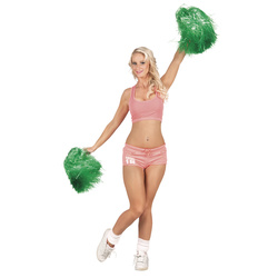 Cheerleader Pompons grün