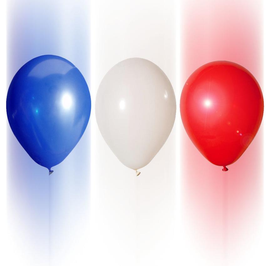 300 luftballons frankreichfarben blau wei rot 26cm ih 19 90. Black Bedroom Furniture Sets. Home Design Ideas