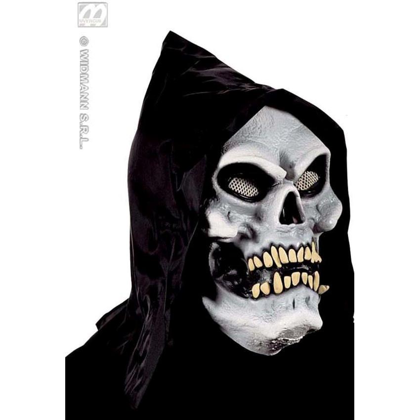 sch del skelett maske mit kapuze ihr fasching partysho 13 75. Black Bedroom Furniture Sets. Home Design Ideas