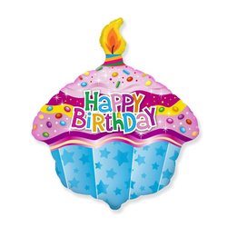 Happy Birthday Muffin Folienballon 60cm