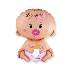 5 Folienballons Baby Girl Mini Shape 35cm